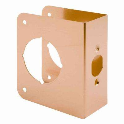 1-3/4 in. Thick Solid Brass Lock and Door Reinforcer, 2-1/8 in. Single Bore, 2-3/4 in. Backset