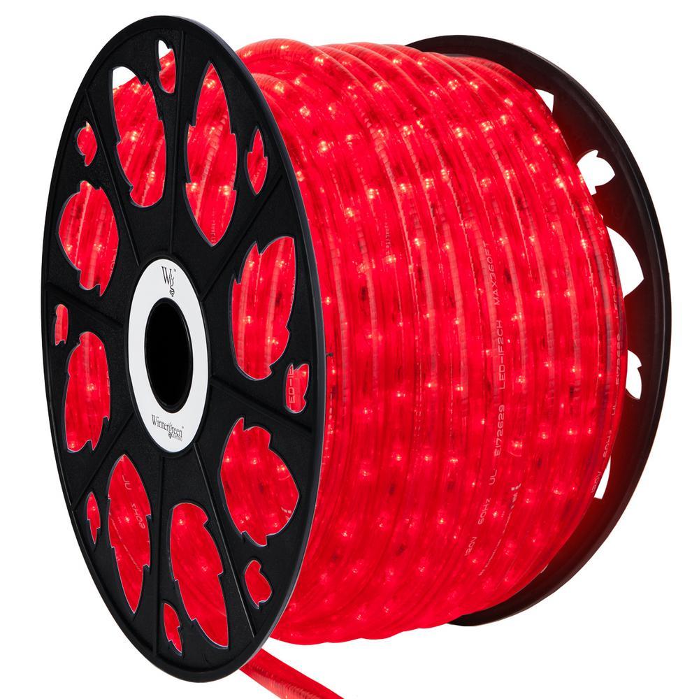 Home Depot Rope Lighting: Wintergreen Lighting 150 Ft. LED Red Rope Light Kit-73669
