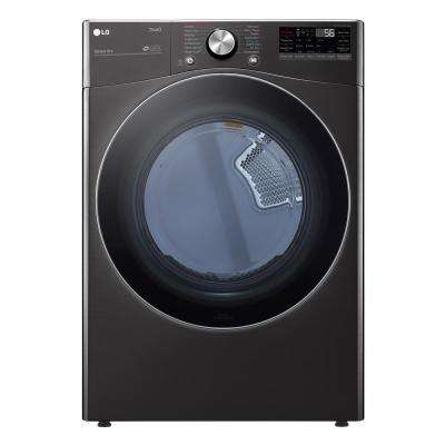 7.4 cu. ft. Black Steel Ultra Large Capacity Electric Dryer with Sensor Dry, Turbo Steam