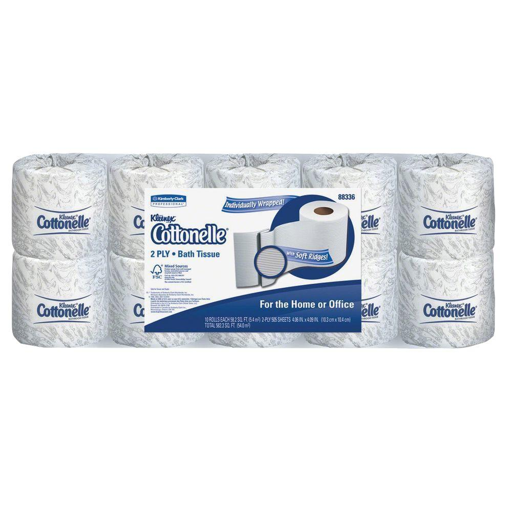 Kimberly-Clark 4.50 in. x 4 in. x 4.60 in. Bathroom Tissue 2-Ply (505 Sheets per Roll)