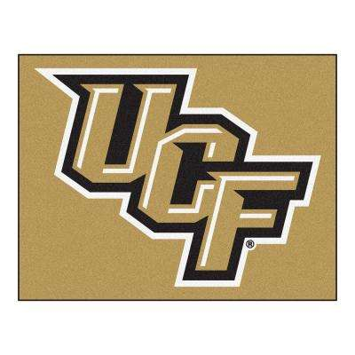 NCAA University of Central Florida Gold 3 ft. x 4 ft. Rectangle Indoor All-Star Area Rug