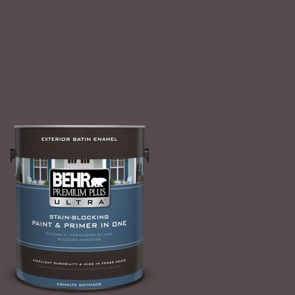 BEHR Premium Plus Ultra 1-gal. #N100-7 Aubergine Satin Enamel Exterior Paint