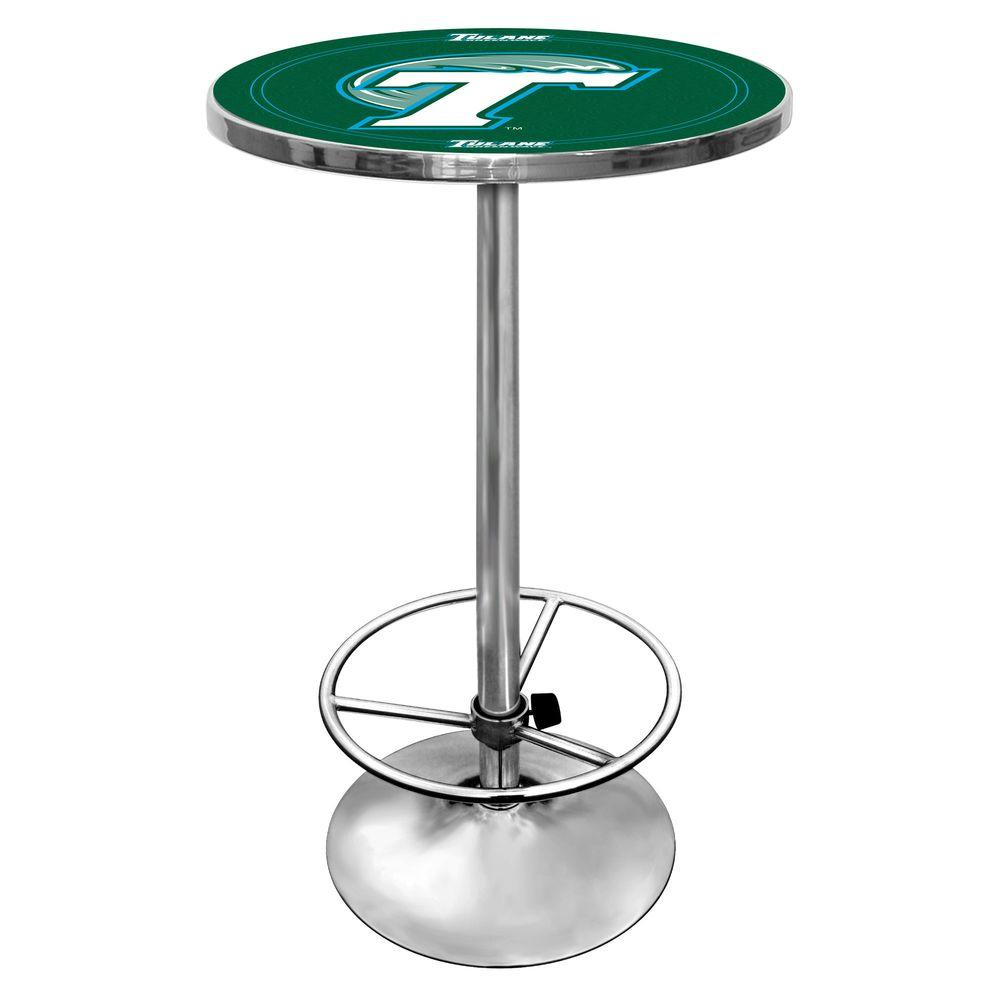 Trademark Tulane University Chrome Pub/Bar Table