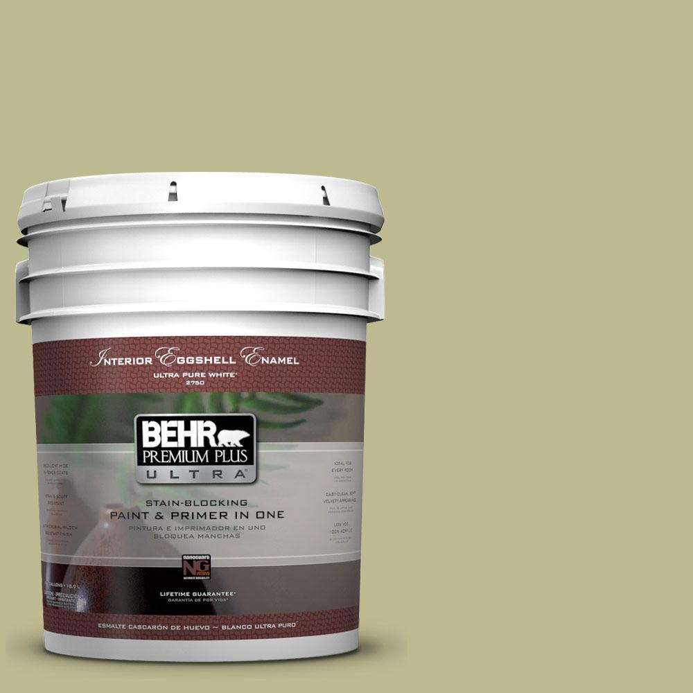 BEHR Premium Plus Ultra 5-gal. #S340-4 Back to Nature Eggshell Enamel Interior Paint