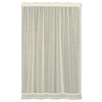 Semi-Opaque Chelsea 48 in. L Polyester Valance in Ecru