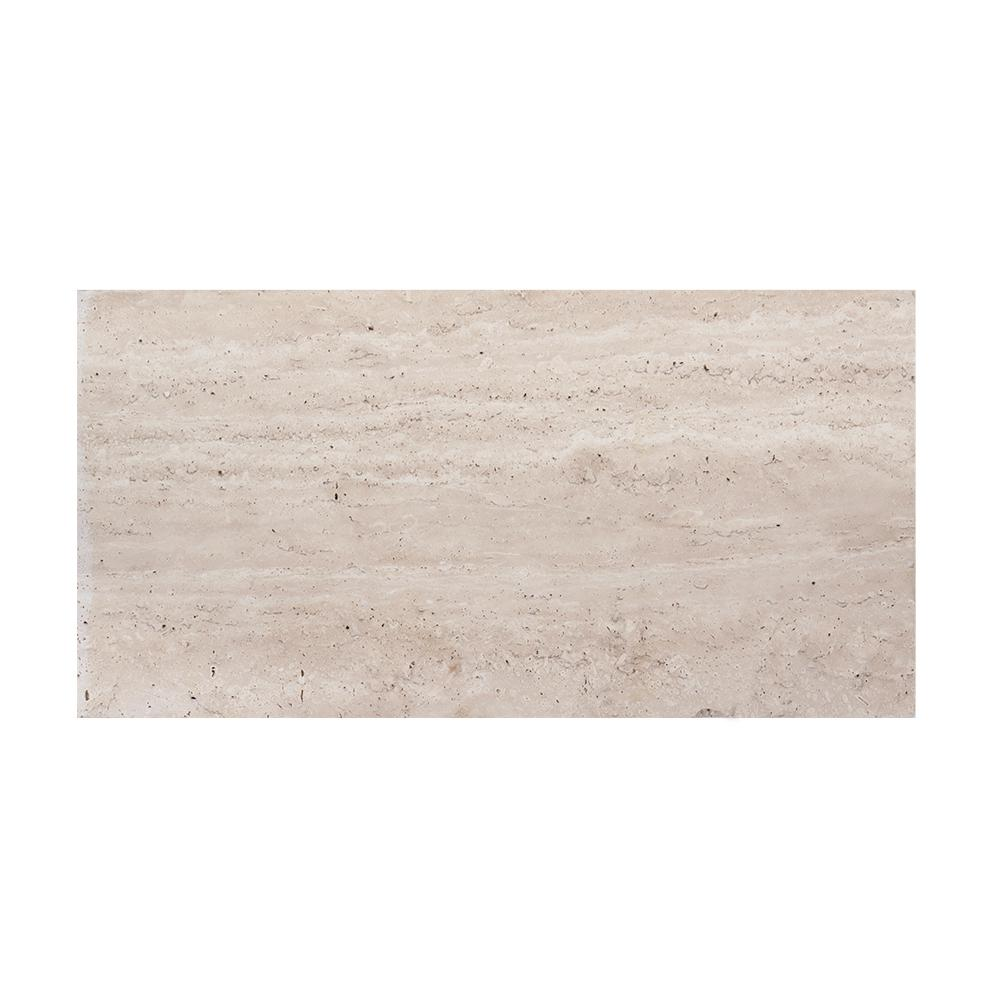 Travertine 3 in. x 6 in. Honed Traverine Wall Tile Sample