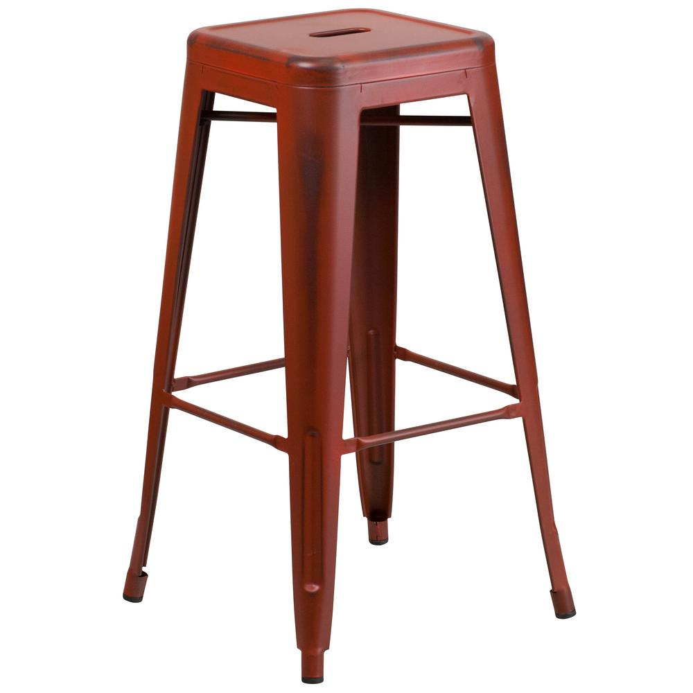 This Review Is From:30 In. Distressed Red Bar Stool