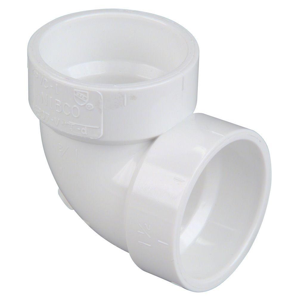 1-1/2 in. PVC DWV 90-Degree H x H Vent Elbow