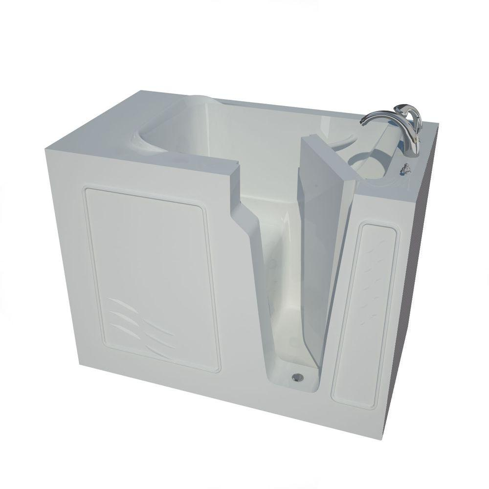 Universal Tubs 4.4 ft. Right Drain Walk-In Bathtub in White ...