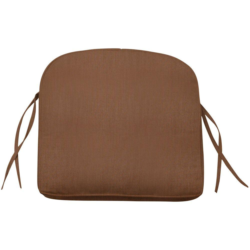 Home Decorators Collection Chestnut Sunbrella Contoured Box-Edge Outdoor Chair Cushion