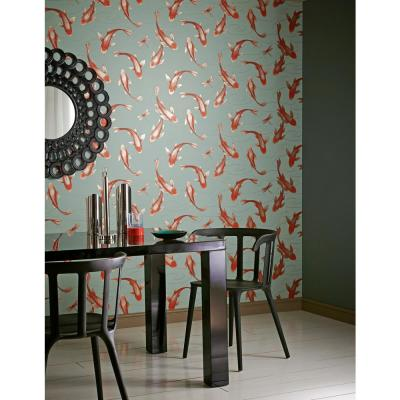 Koromo Green Clearwater Un-Pasted Wallpaper