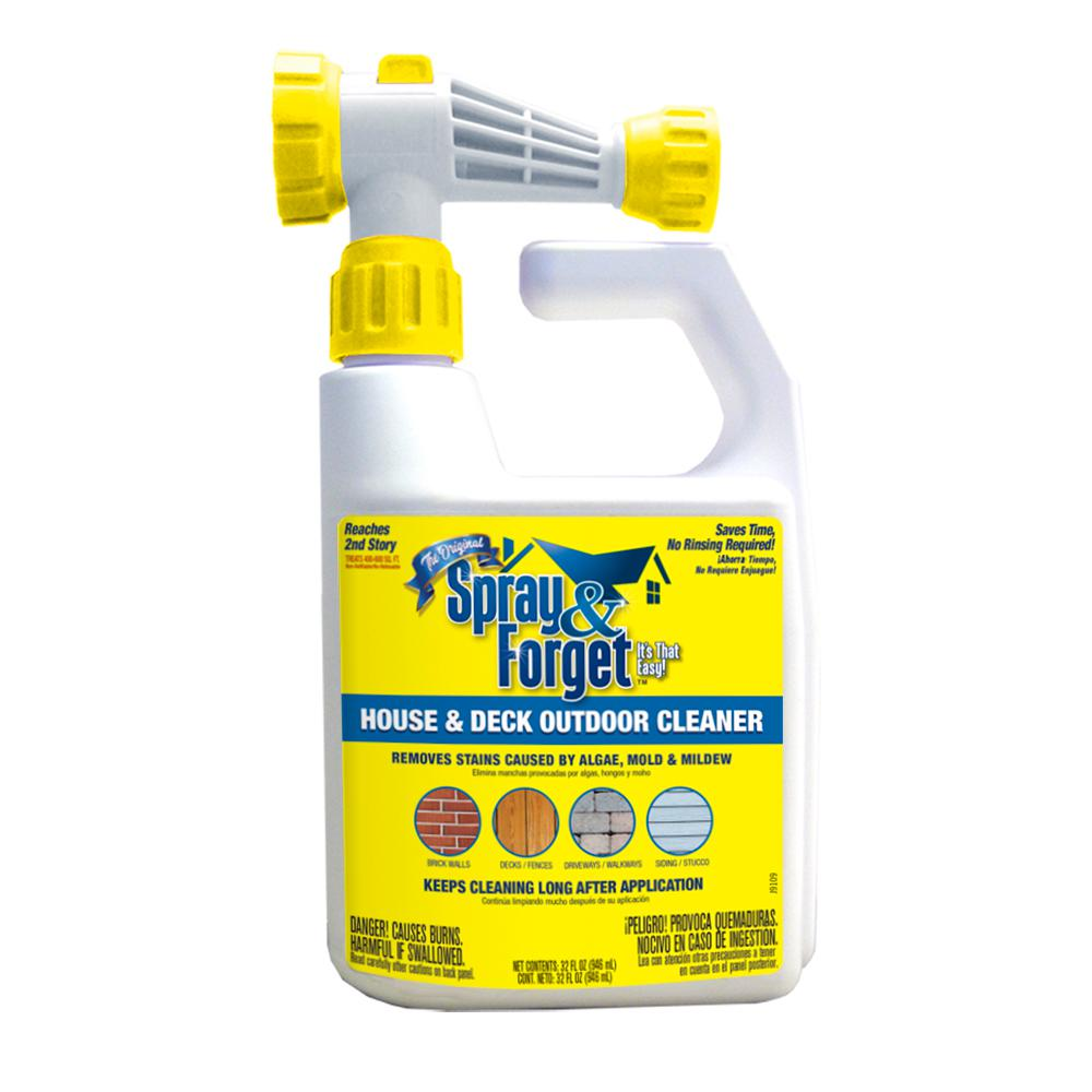 House And Deck Cleaner Outdoor Mold Remover With Hose End Sprayer