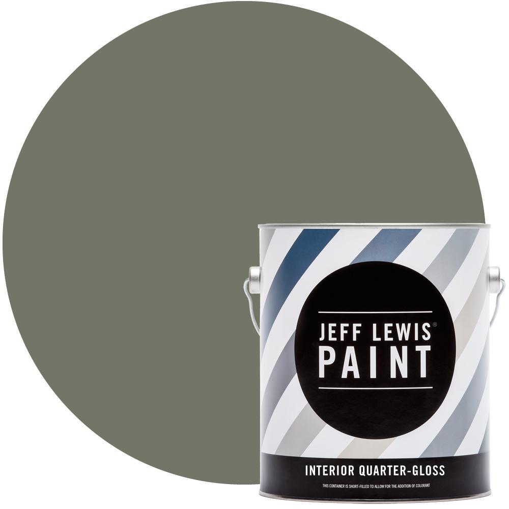 Jeff Lewis 1 gal. #512 Edamame Quarter-Gloss Interior Paint