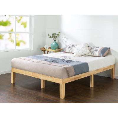 Natural Queen Solid Wood Platform Bed Frame