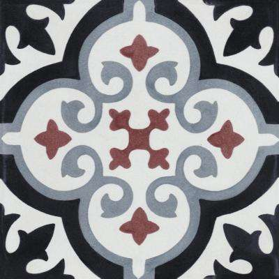 Fiore E Winter 7-7/8 in. x 7-7/8 in. Cement Handmade Floor and Wall Tile