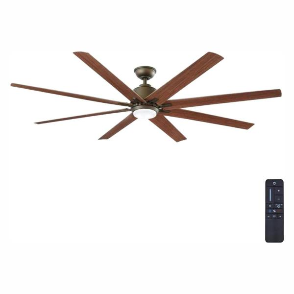 Home Decorators Collection Kensgrove 72 In Led Indoor Outdoor Espresso Bronze Ceiling Fan With Remote Control Yg493od Eb The Home Depot
