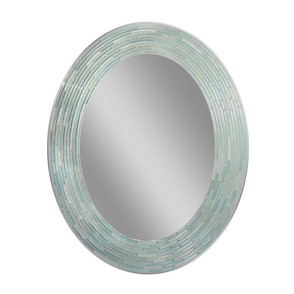 29 in. L x 23 in. W Reeded Sea Glass Oval