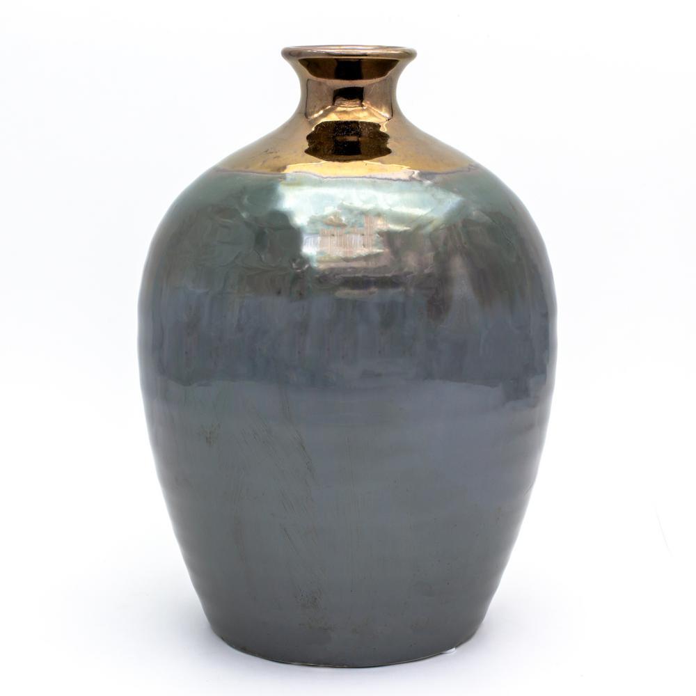 Patina Verde Oval Bottle Vase