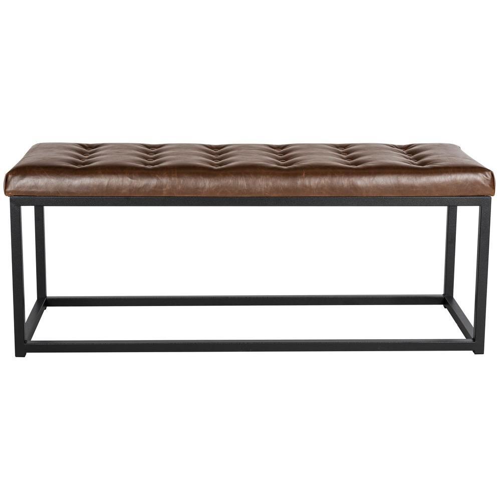 Astounding Safavieh Reynlds Brown Bench Fox6225C The Home Depot Machost Co Dining Chair Design Ideas Machostcouk