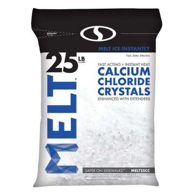 25 lb. Re-Sealable Bag Calcium Chloride Crystals Ice Melter