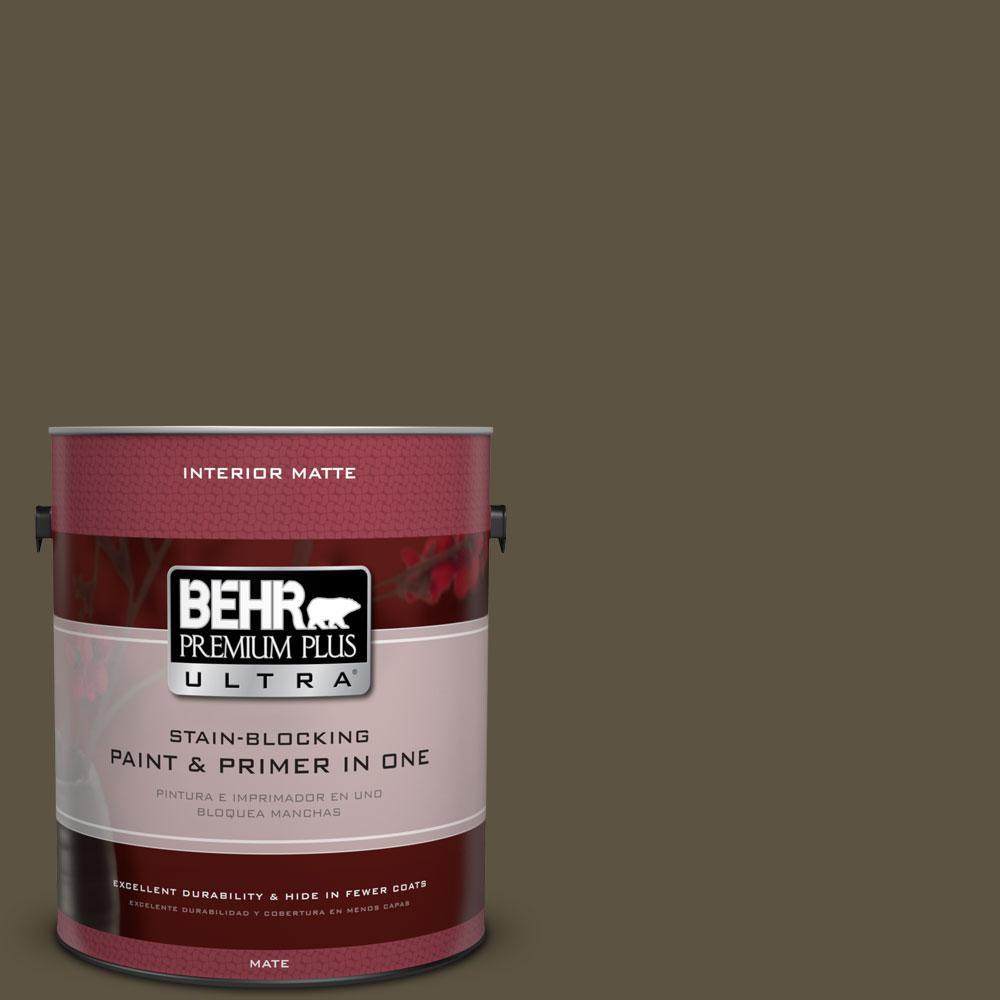 BEHR Premium Plus Ultra 1 gal. #760D-7 Moosewood Flat/Matte Interior Paint