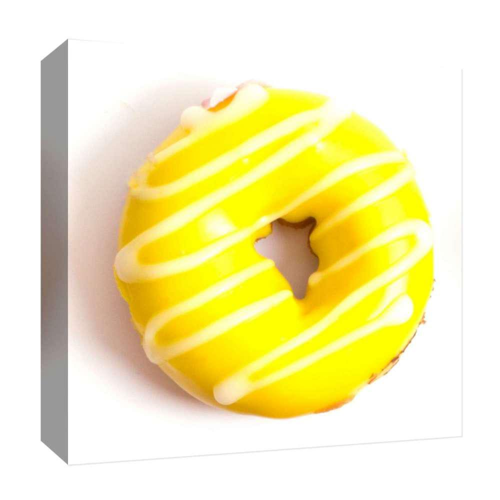 PTM Images 15 in. x 15 in. \'\'Yellow Donut\'\' By PTM Images Printed ...