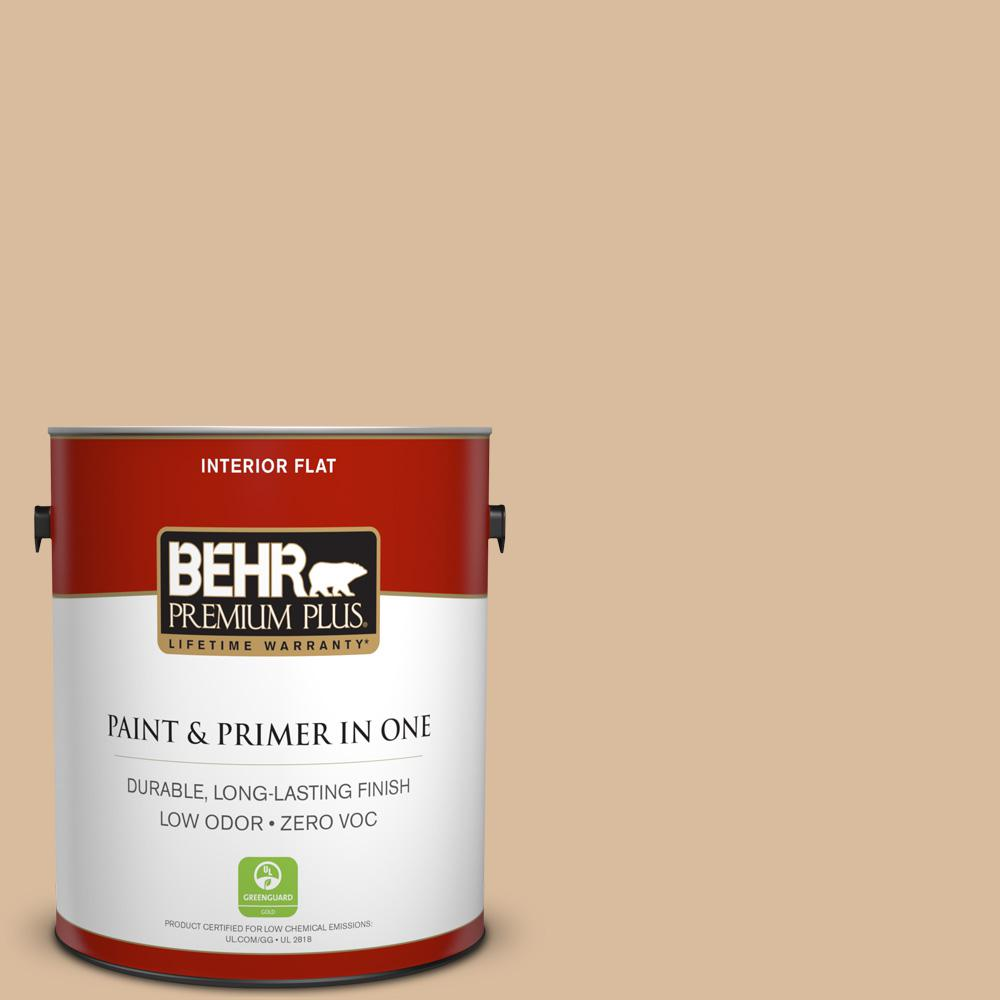 BEHR Premium Plus 1-gal. #BXC-40 Soft Wheat Flat Interior Paint