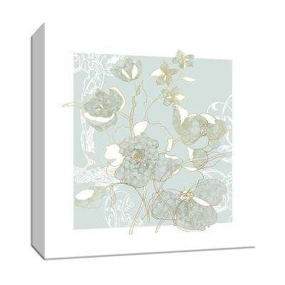 15 in. x 15 in. ''Filigree Floral'' Canvas Wall Art