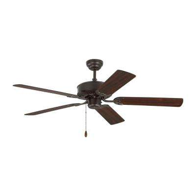 Haven 52 in. Bronze Ceiling Fan with Dual Finished Blades