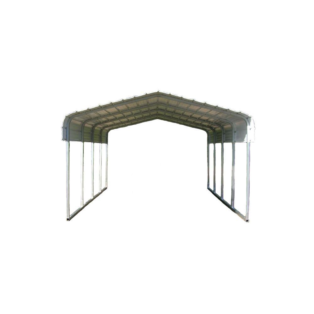12 ft. W x 20 ft. L x 7 ft. H Steel Carport