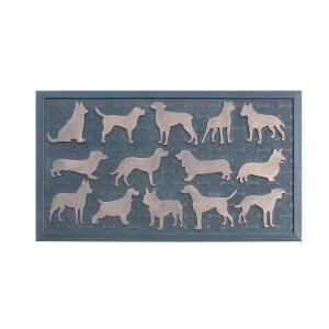 First Impression Dogs Mat Black/Copper 30 in. x 18 in. Rubber Beautifully Hand Finished, Non-Slip Heavy Door Mat