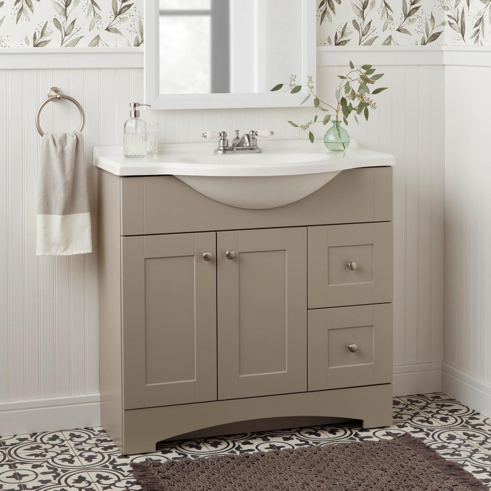 Teapot 4 in. Centerset 2-Handle Low-Arc Bathroom Faucet in Brushed Nickel
