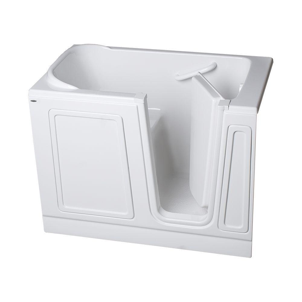 American Standard Acrylic Standard Series 51 in. x 26 in. Walk-In Soaking Tub in White