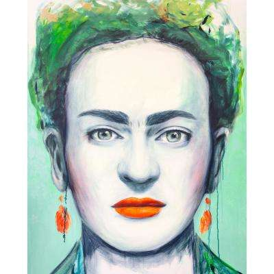 "40 in. x 50 in. ""Frida"" by Mat Printed and Painted Canvas Wall Art"