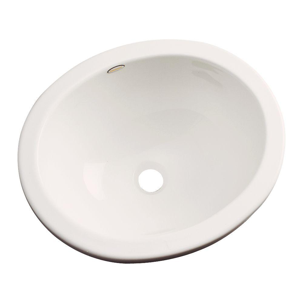 Caladesi Undermount Bathroom Sink in Almond