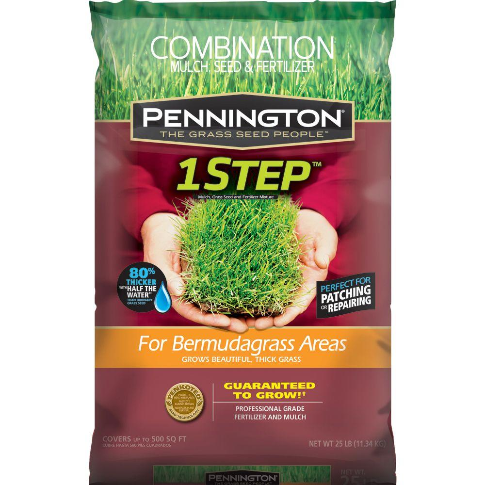 Pennington 25 lb. One Step Complete for Bermudagrass Areas with Mulch, Grass Seed, Fertilizer Mix
