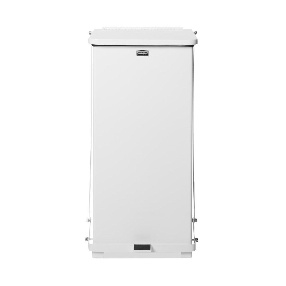 Rubbermaid Commercial Products Defenders 24 Gal. White Step-On Medical Trash Can