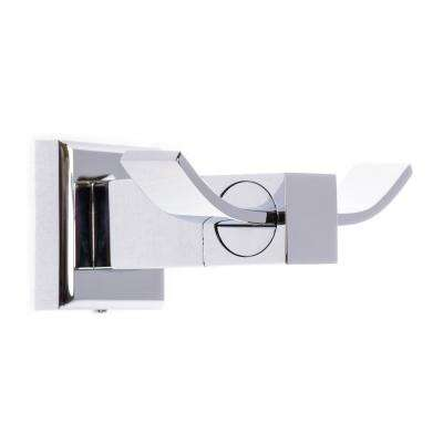 Roma Double Robe Hook in Polished Chrome