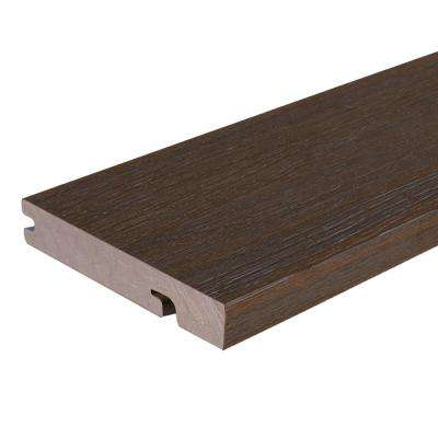 UltraShield Naturale Columbus 1 in. x 6 in. x 8 ft. Spanish Walnut Hybrid Composite Decking Board