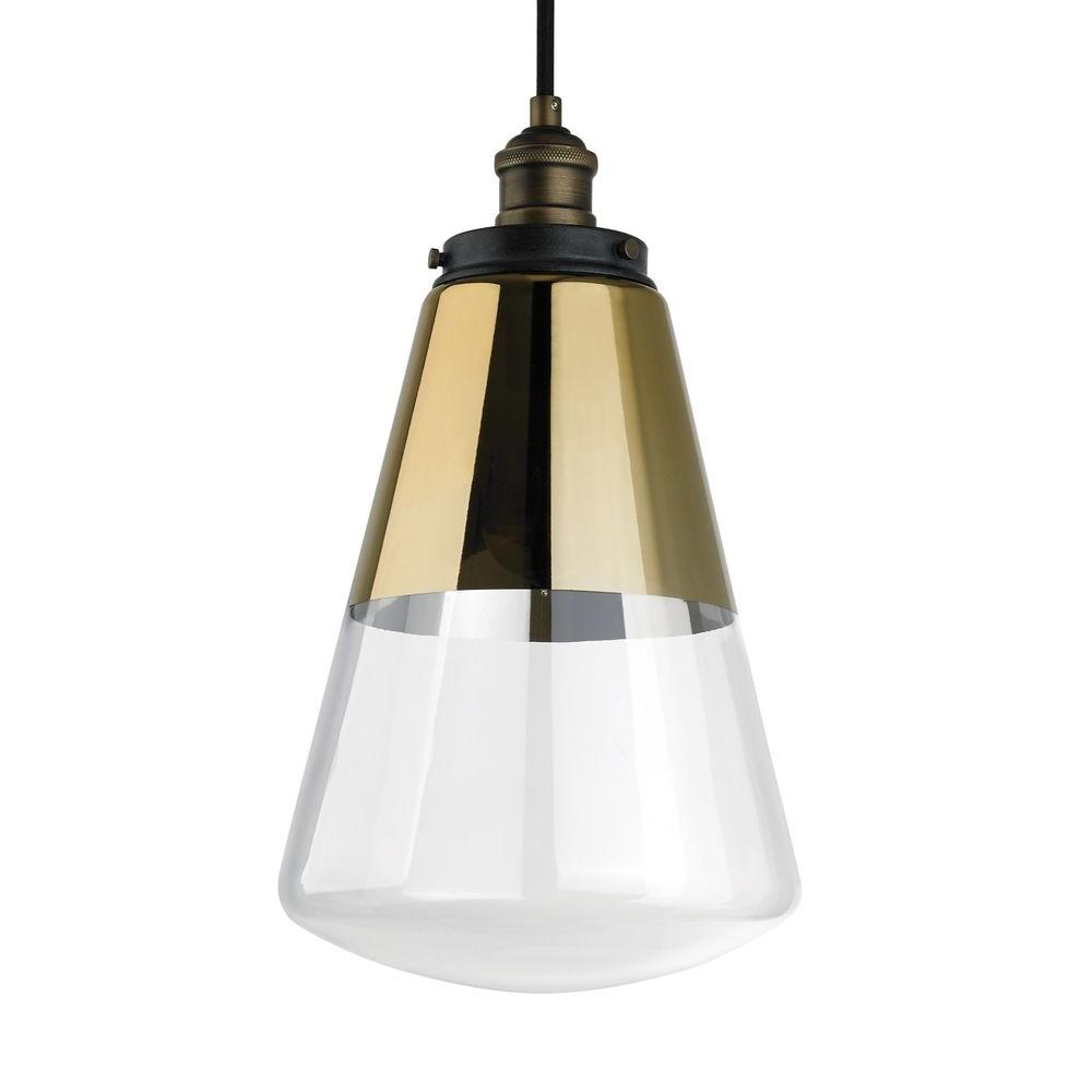 Feiss Waveform 9.75 In. W. 1-Light Painted Aged Brass