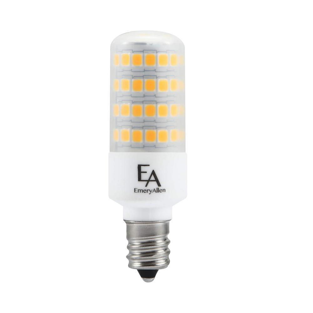 60-Watt Equivalent E12 Base Dimmable 4000K LED Light Bulb Cool White (2-Pack)