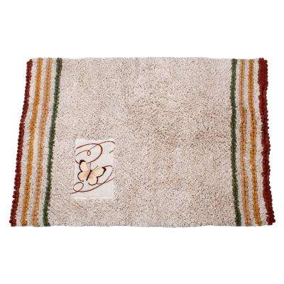 Cotton Bath Rug In Multicolor
