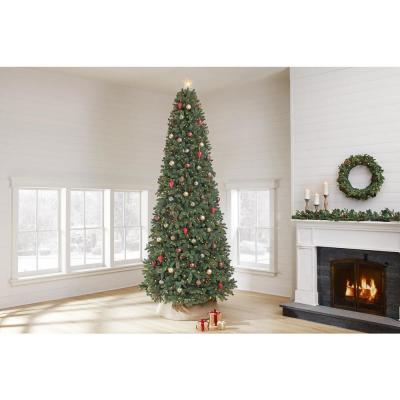 12 ft. Westwood White Fir LED Pre-Lit Artificial Christmas Tree with 1200 Warm White Micro Dot Lights