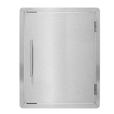18 in. Stainless Steel BBQ Grill Single Access Door Panel