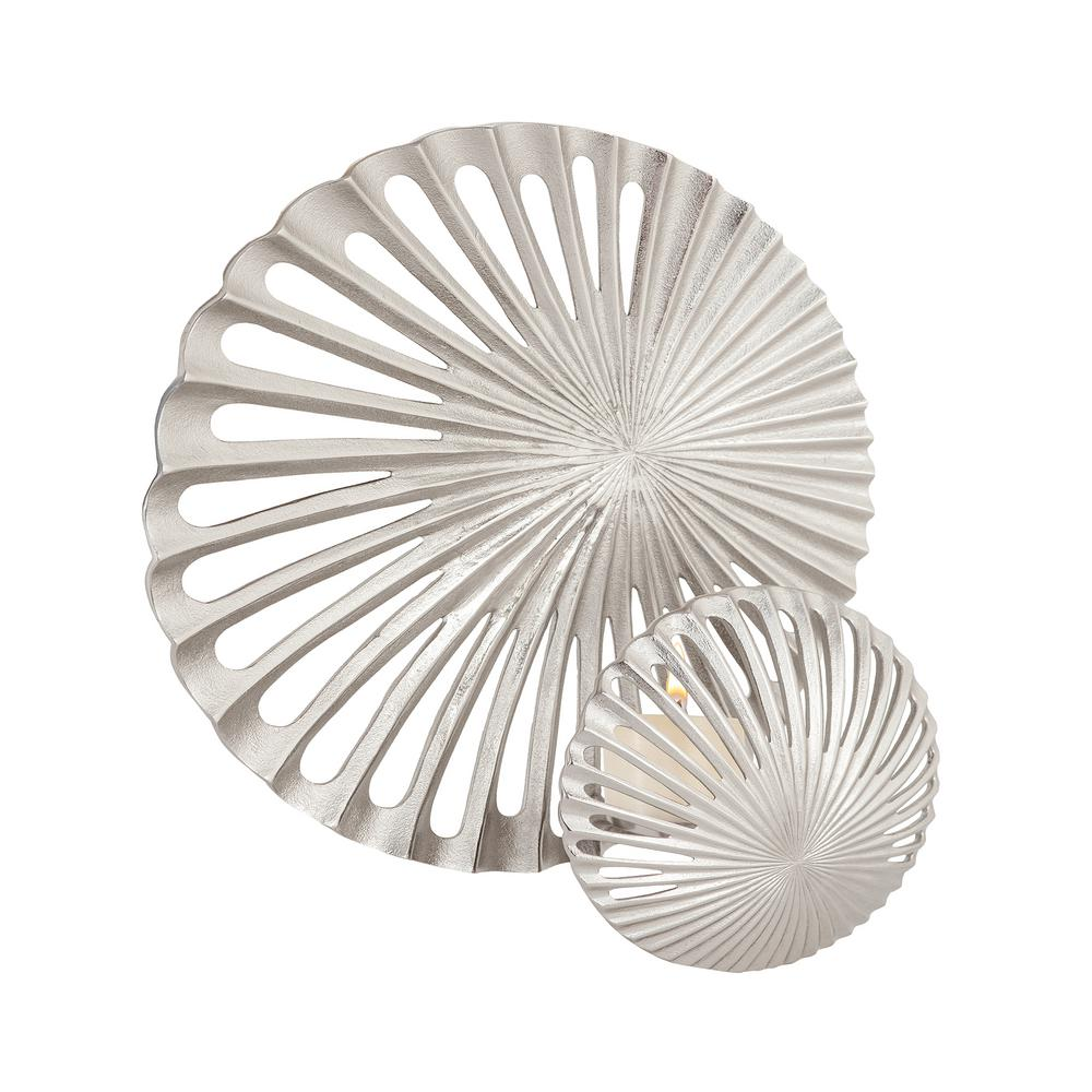 Pompano Beach Raw Textured Nickel Candle Sconce