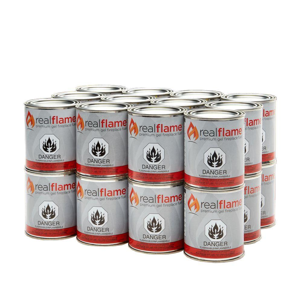 real flame 13 oz 24 lb gel fuel cans 24 pack 2101 the home depot