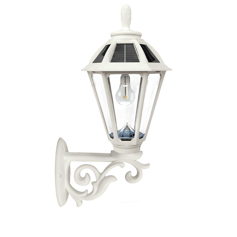 Post Wall Light Baytown Outdoor White Resin Solar Warm White Led Durable Classic
