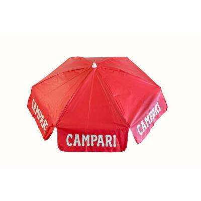 Campari 6 ft. Aluminum Tilt Patio Umbrella in Red Vinyl