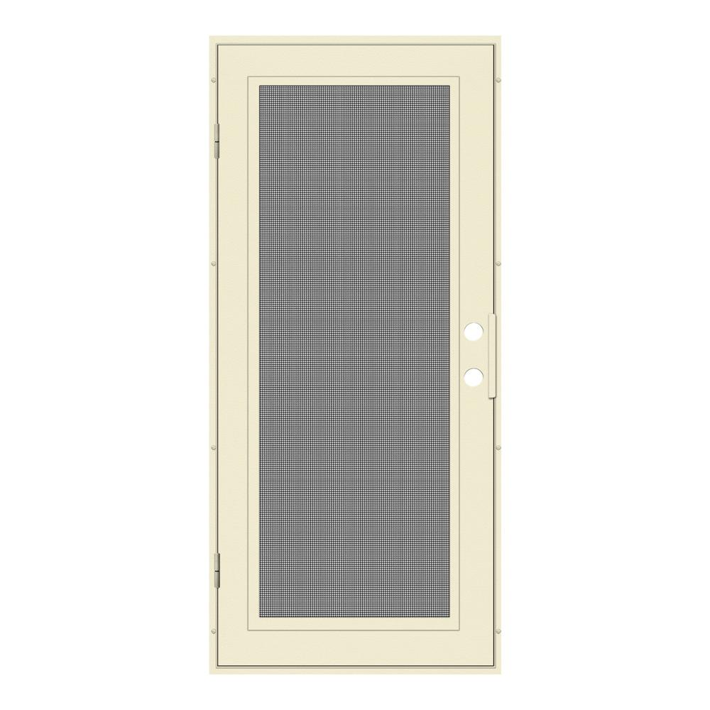 Charming Unique Home Designs 32 In. X 80 In. Full View Beige Hammer Left