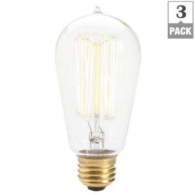 60-Watt Incandescent S14 Light Bulb (3-Pack)